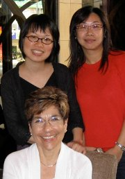 Gail Berenson visiting two of her former graduate students in Taiwan.